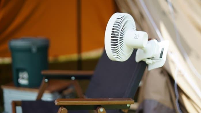 キャンプ 扇風機 クリップ式