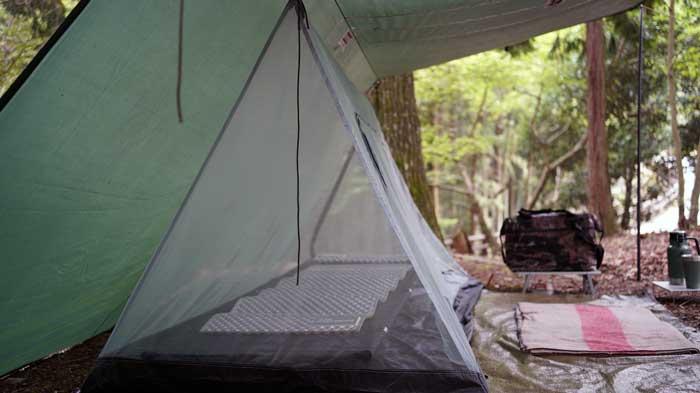タープ泊には軽量・コンパクトな吊り下げ式蚊帳がおすすめ