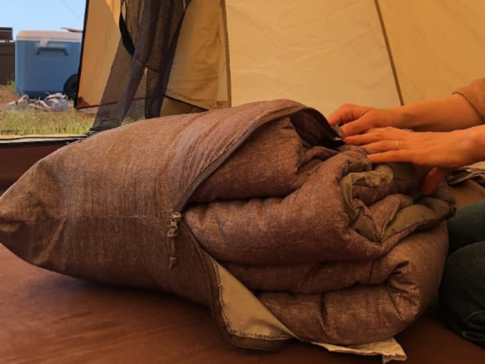 スノーピーク寝袋SSシングルのたたみ方