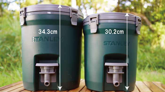 STANLEY(スタンレー)ウォータージャグ3.8Lと7.5Lの比較