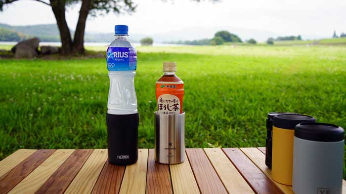 350ml用缶クーラーに500mlペットボトルは使える?