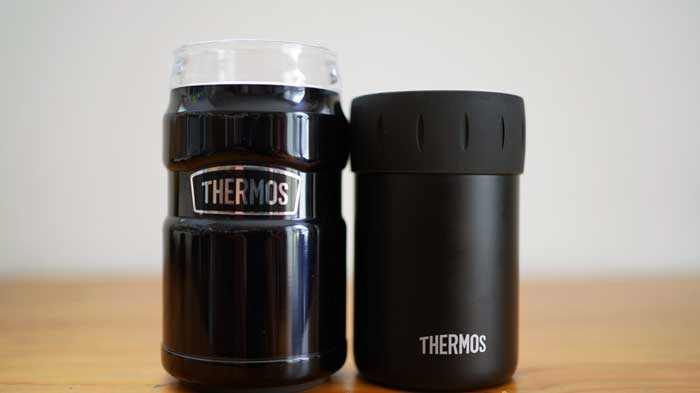 サーモスの保冷缶ホルダーの2wayと安い方を比較レビュー