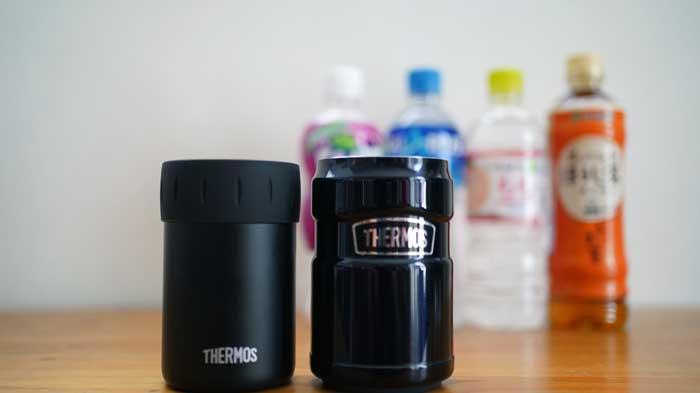 サーモスの保冷缶ホルダーにペットボトルは入る?