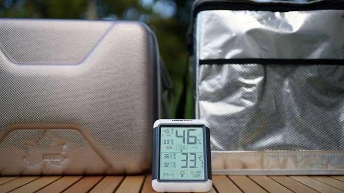 ハイパー氷点下クーラーと一般的なソフトクーラーの保冷力比較