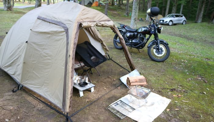 バイクキャンプにツーリング用タープは必要