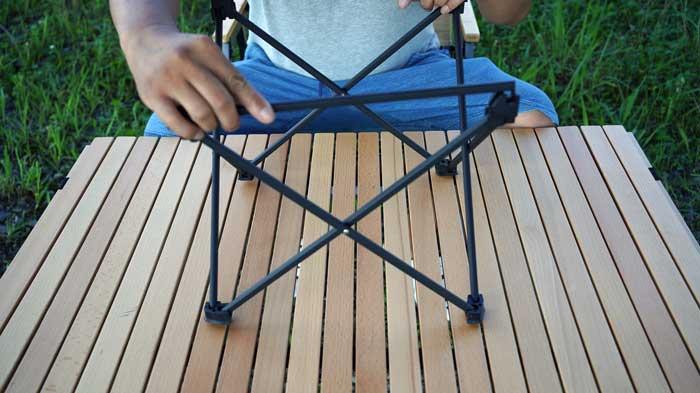 Moon Lenceのアルミローテーブルの組み立て・収納