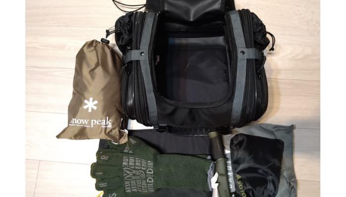 キャンプツーリング用バッグの容量やサイズの目安は?