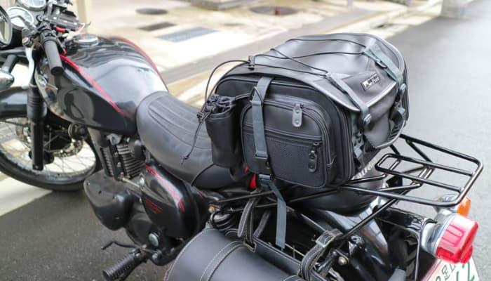 キャンツーバックのバイクへの積載方法