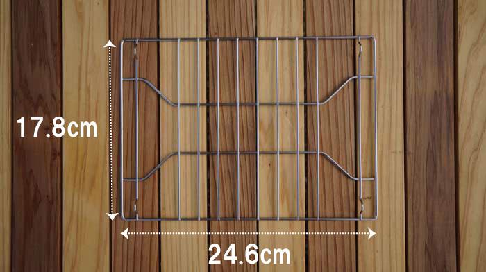 ベルモント焚き火台tabiの網のサイズ
