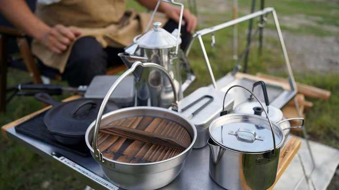 UNIFLAME(ユニフレーム)焚き火ベースsoloで調理