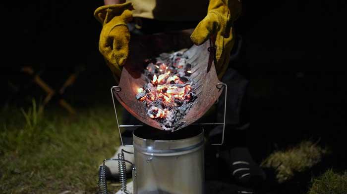 ベルモントの焚き火台TABI使用後の片付け方