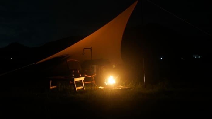ムササビウィング 焚き火