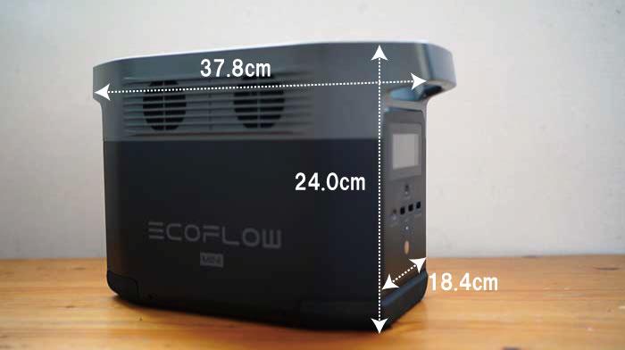 EcoFlow DELTA miniのサイズ
