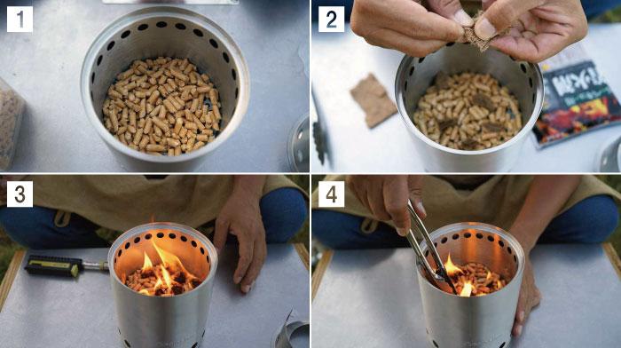 solo stove(ソロストーブ)ペレットの使い方と着火のコツ