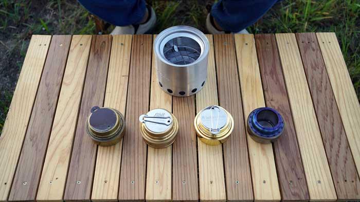 solo stove(ソロストーブ)とアルコールストーブのスタッキング