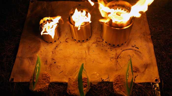 solo stove(ソロストーブ)ペレットで燃焼時間