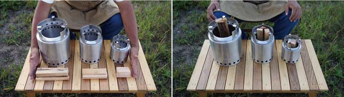 solo stove(ソロストーブ)のサイズ比較